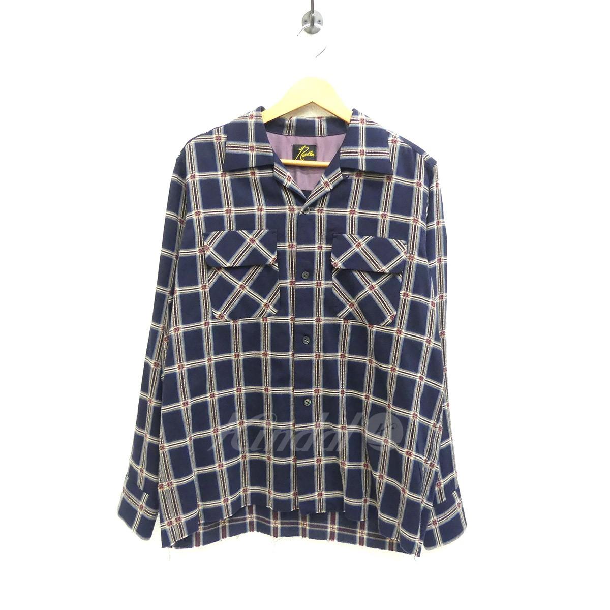 【中古】Needles オープンカラーシャツ DOBBY PLAID CLASSIC SHIRT 2017AW 【送料無料】 【142783】 【KIND1550】