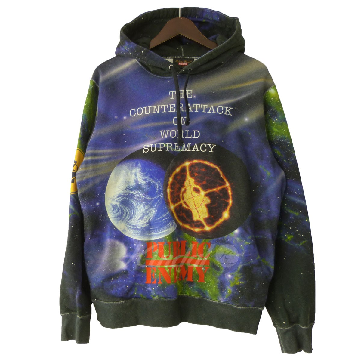 【中古】SUPREME ×UNDERCOVER 18SS「Public Enemy Hooded Sweatshirt」プルオーバーパーカー 【送料無料】 【156509】 【KIND1550】