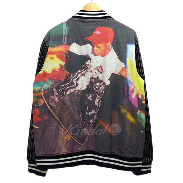 【中古】Supreme x Comme des Garcons SHIRT 14SS Reversible Varsity Baseball Jacket リバーシブルブルゾン 【送料無料】 【000432】 【KIND1551】