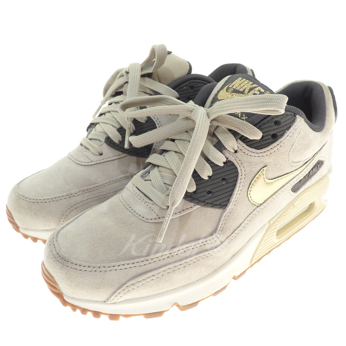 lowest price 03002 6bd28 NIKE WMNS AIR MAX 90 PRM SUEDE sneakers beige size 23. 0 (Nike)
