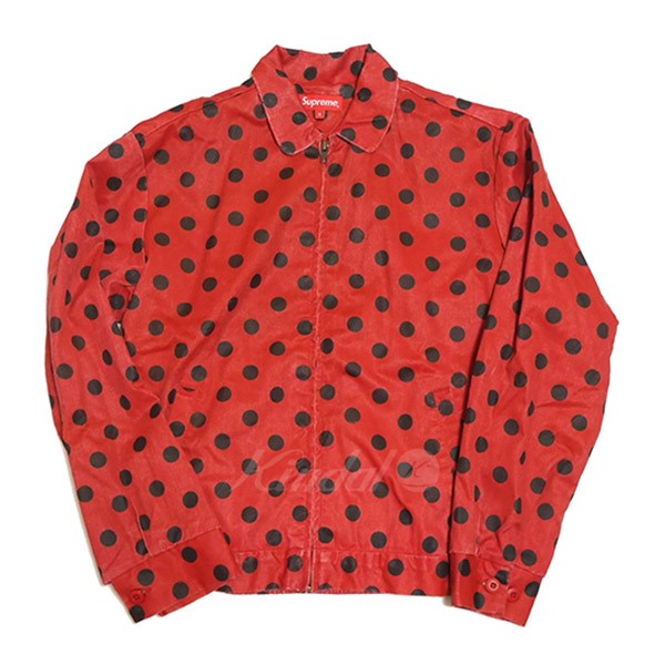 【中古】SUPREME 2018SS Polka Dots Rayon Work Jacket ジップアップ ブルゾン 【送料無料】 【008962】 【KIND1551】