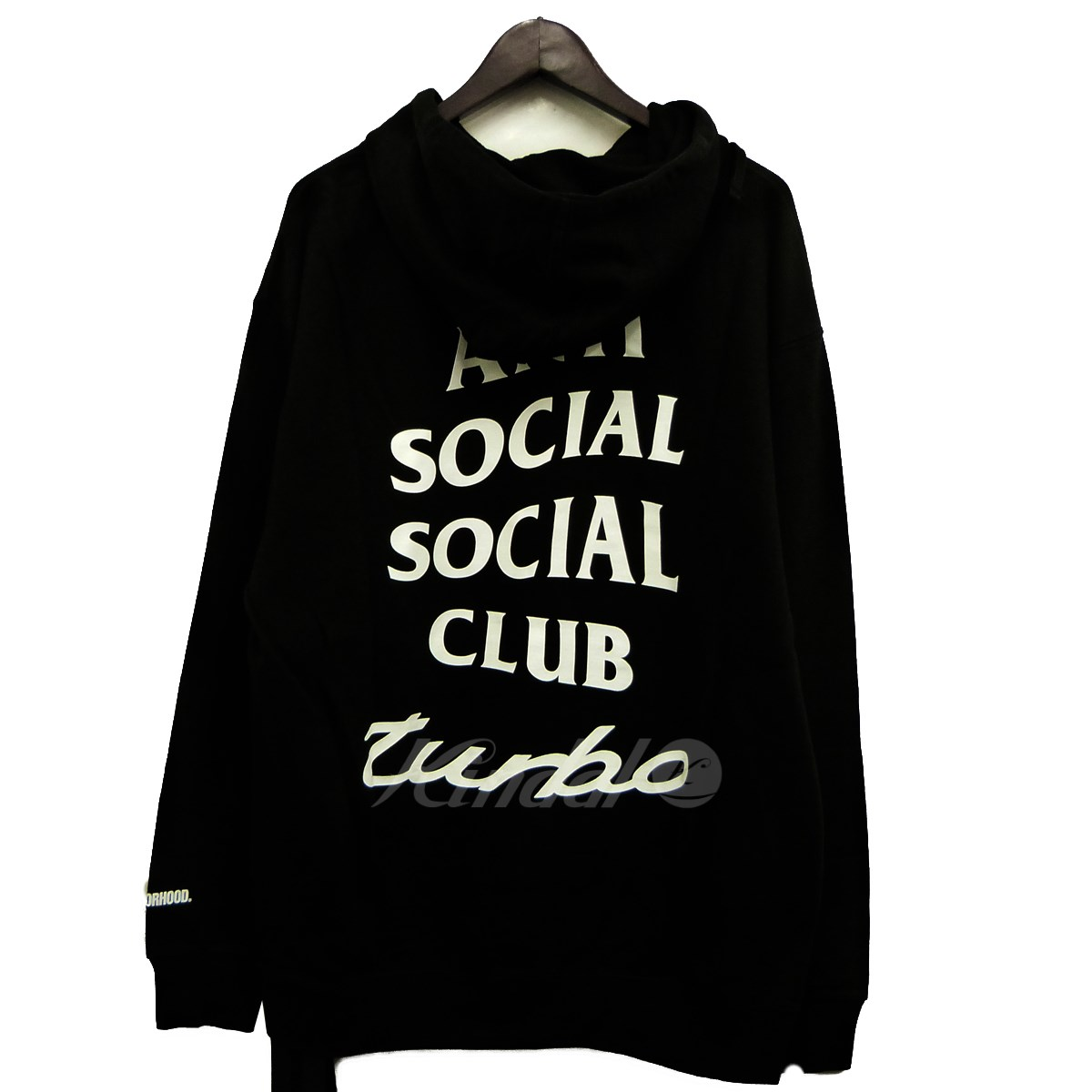 【中古】NEIGHBOR HOOD×ANTI SOCIAL SOCIAL CLUB 18SS「ASSC TURBO/CE-HOODED LS」両面プリントプルオーバーパーカー 【送料無料】 【143668】 【KIND1551】