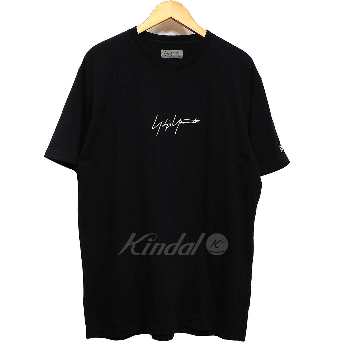 【中古】YOHJI YAMAMOTO pour homme×NEW ERA 18SS シグネチャーロゴ刺繍Tシャツ 【送料無料】 【006097】 【KIND1551】