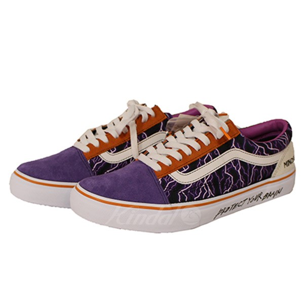 a9878d299b mindseeker X VANS OLD SKOOL old school PROTECT YOUR BRAIN sneakers purple  size  28cm (mind seeker X vans)