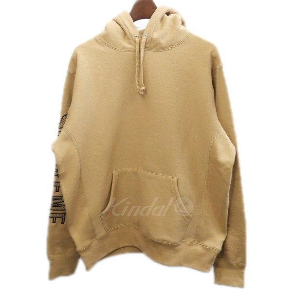 【中古】SUPREME 2018SS「Sleeve Embroidery Hooded Sweatshirt」袖ロゴパーカー 【送料無料】 【075649】 【KIND1551】
