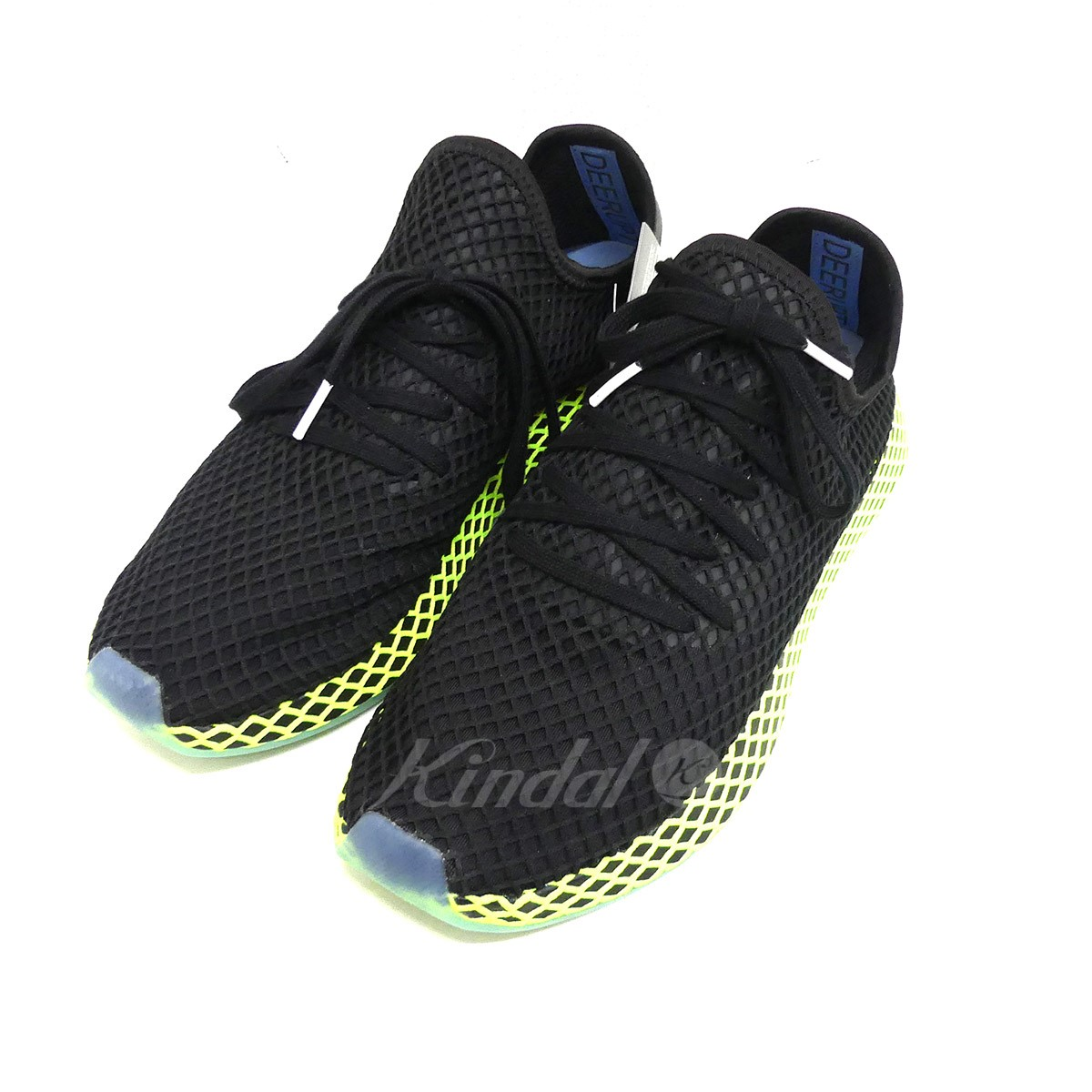 227b453000ae6 adidas DEERUPT RUNNER B41755 low-frequency cut sneakers black X yellow size   US 11 1 2 (Adidas)