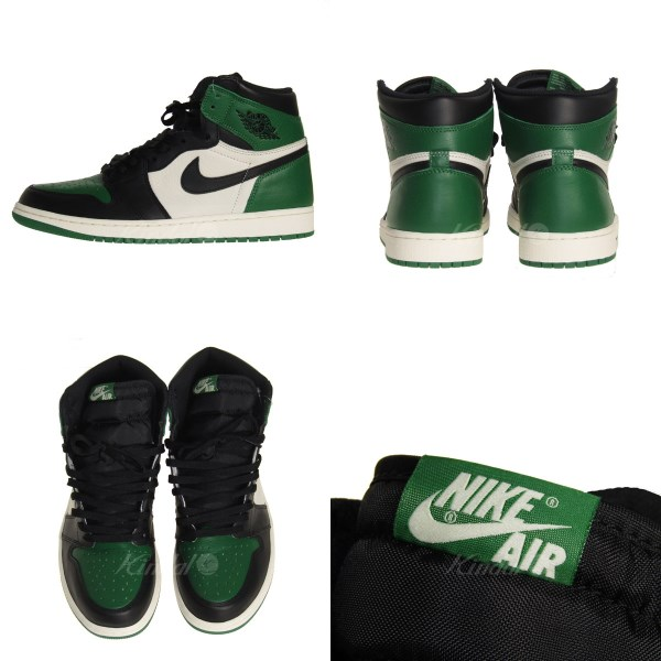 7959657d71ea NIKE AIR JORDAN 1 RETRO HIGH OG PINE GREEN  Air Jordan 1 nostalgic green X  black size  29. 0cm (Nike)