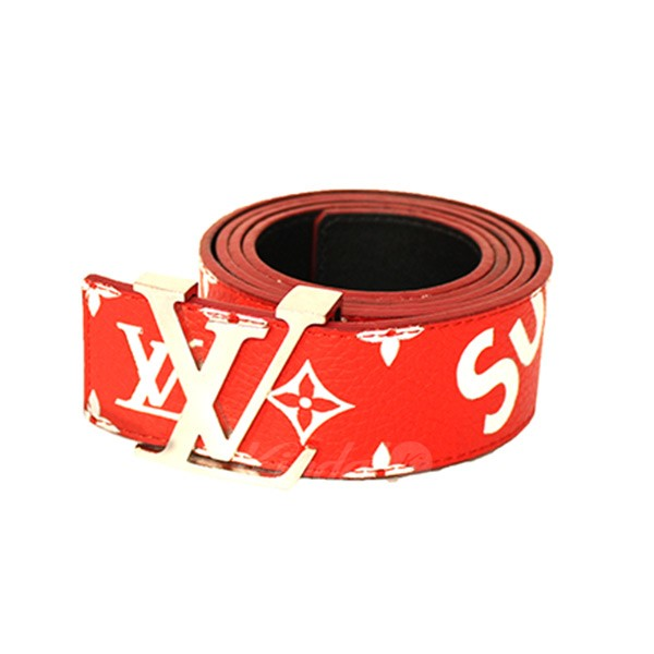 4931f5f2313d Supreme X LOUIS VUITTON 17AW LV Initiales 40 MM Belt sun Tulle LV belt  MP015 red size  38 95 (シュプリームルイヴィトン)