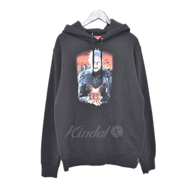 【中古】SUPREMEx Hellraiser 2018SS Hell On Earth Hooded Sweatshirts ブラック サイズ:M 【121218】(シュプリーム×ヘルレイザー)