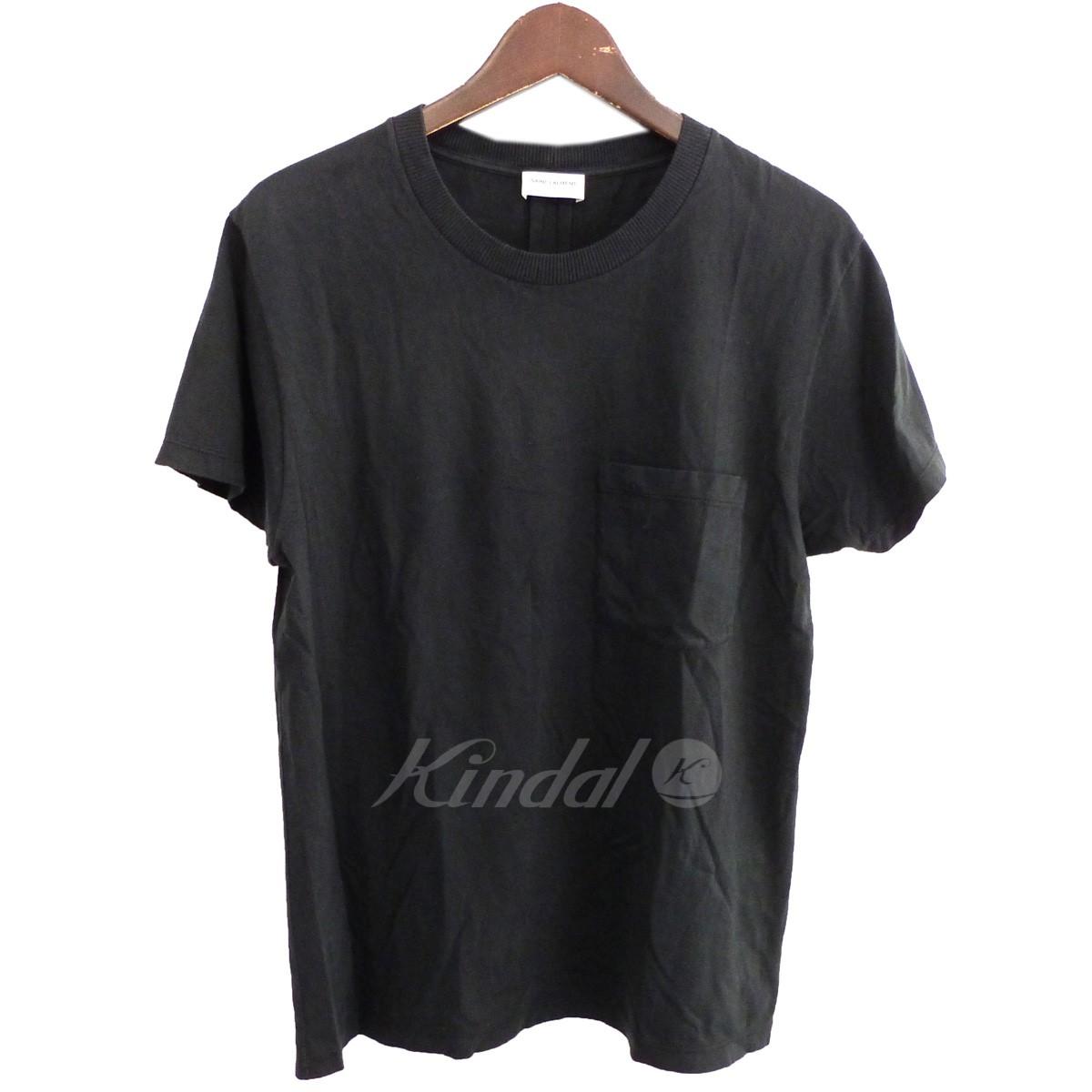 【中古】SAINT LAURENT PARIS 15AW カサンドラロゴ胸ポケットTシャツ 【送料無料】 【161329】 【KIND1641】