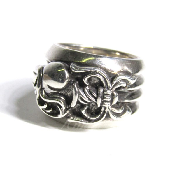 【中古】CHROME HEARTS DAGGER HEART RING ダガーハートリング 【送料無料】 【035765】 【KIND1551】