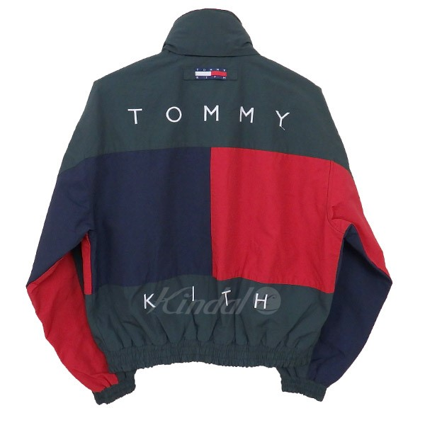 Kith 18aw X Tommy Hilfiger Reversible Color Block Jacket Green Red Navy Size S Kiss