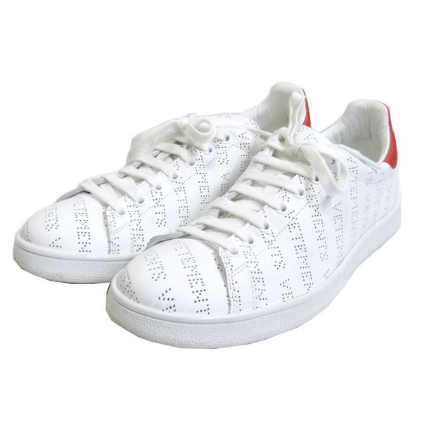 【中古】VETEMENTS 【18SS】「Perforated Sneakers」リピートロゴローカットスニーカー 【送料無料】 【054630】 【KIND1641】