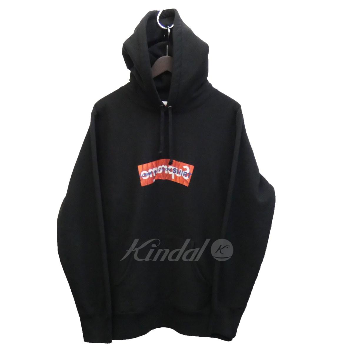 【5月20日 お値段見直しました】【中古】SUPREME×CdG SHIRT17SS「Box Logo Hooded Sweatshirt」boxロゴパーカー ブラック サイズ:M