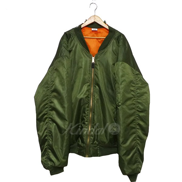 【中古】VETEMENTS 2015AW Oversized Bomber Jacket 【送料無料】 【083011】 【HR1541】 【返品不可】