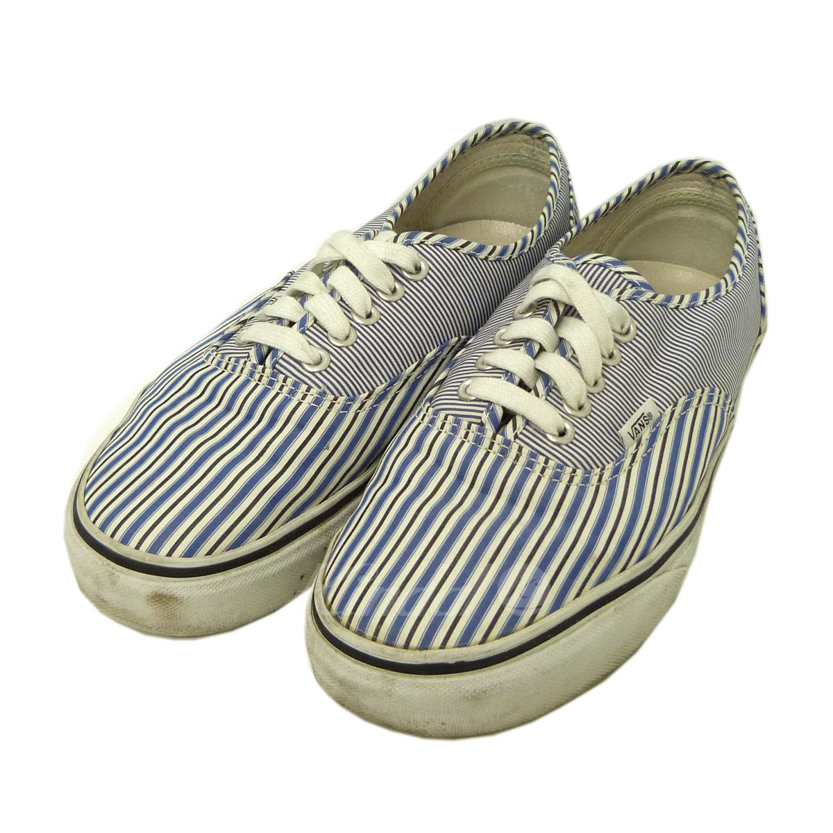 【中古】Supreme x Comme des Garcons SHIRT×VANS 12SS「Authentic Pro」ストライプスニーカー 【送料無料】 【152196】 【KIND1551】