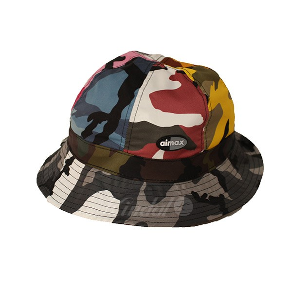 NIKE 2018SS NIKE ERDL PARTY BUCKET HAT AIR MAX pail hat black X Chisa Malle  is  - (Nike) 45c670acdeb