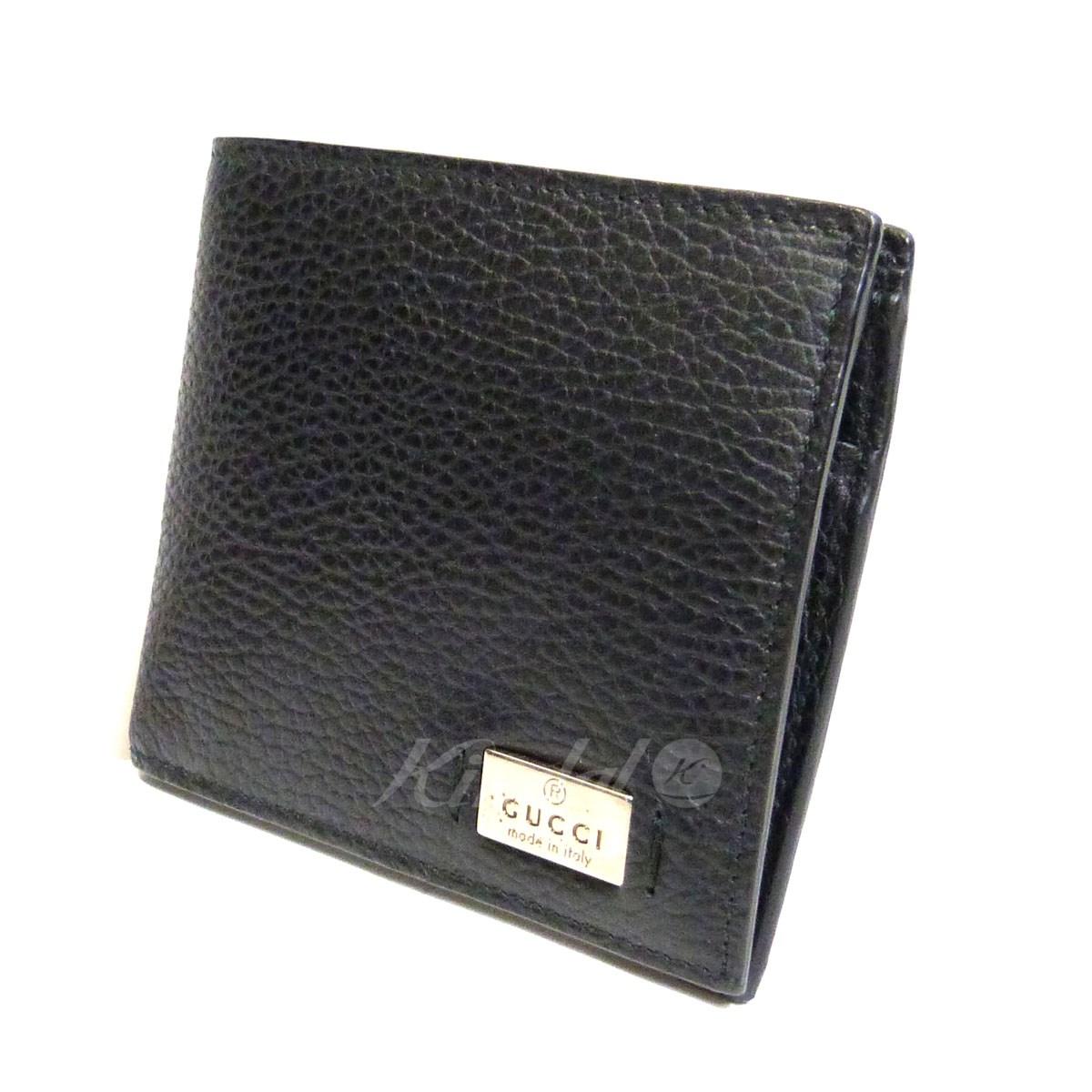 【中古】GUCCI レザー2つ折り財布 【送料無料】 【054456】 【KIND1551】