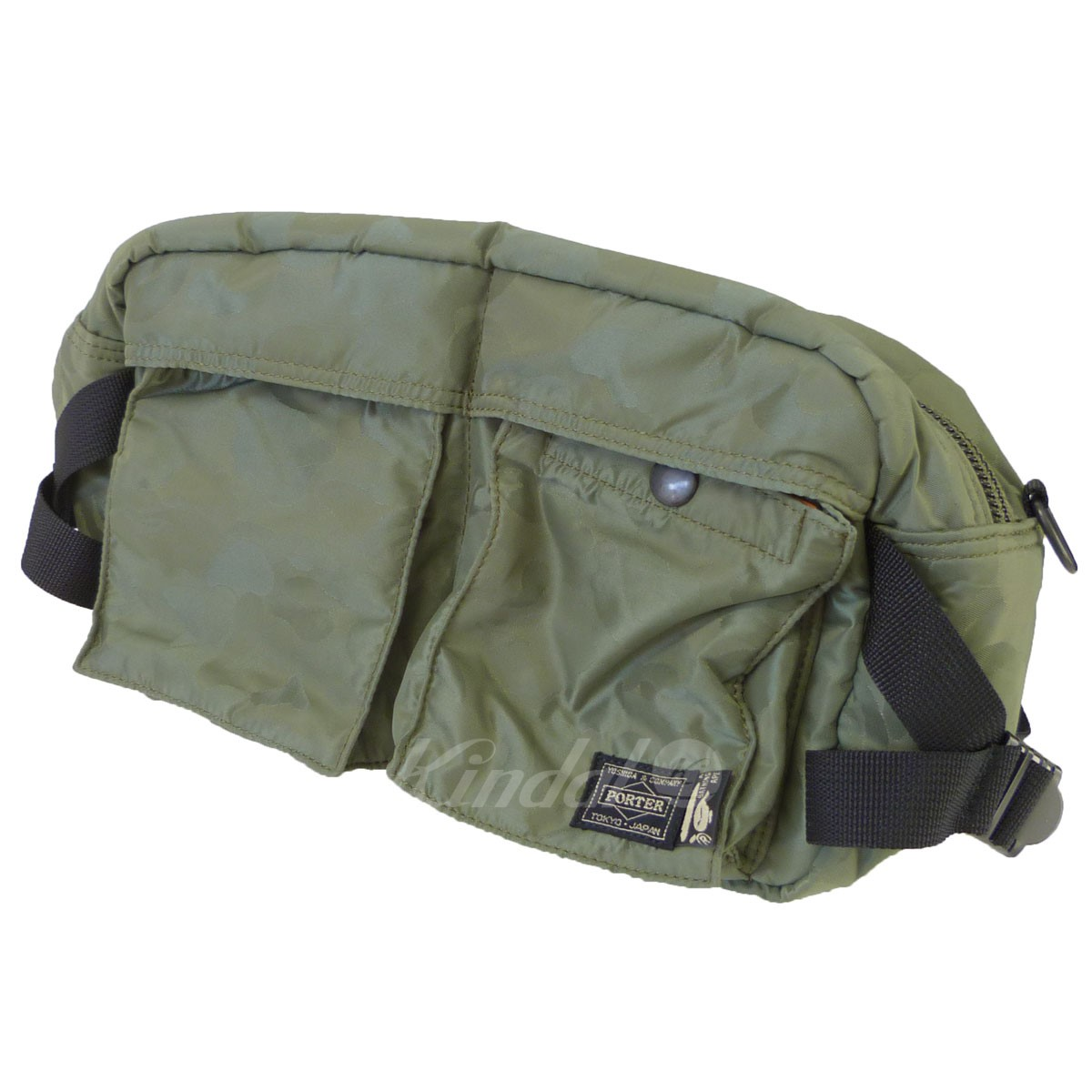 【中古】A BATHING APE×PORTER 「JACQUARD ABC WAIST BAG」ジャガードウエストバッグ 【送料無料】 【126381】 【KIND1551】