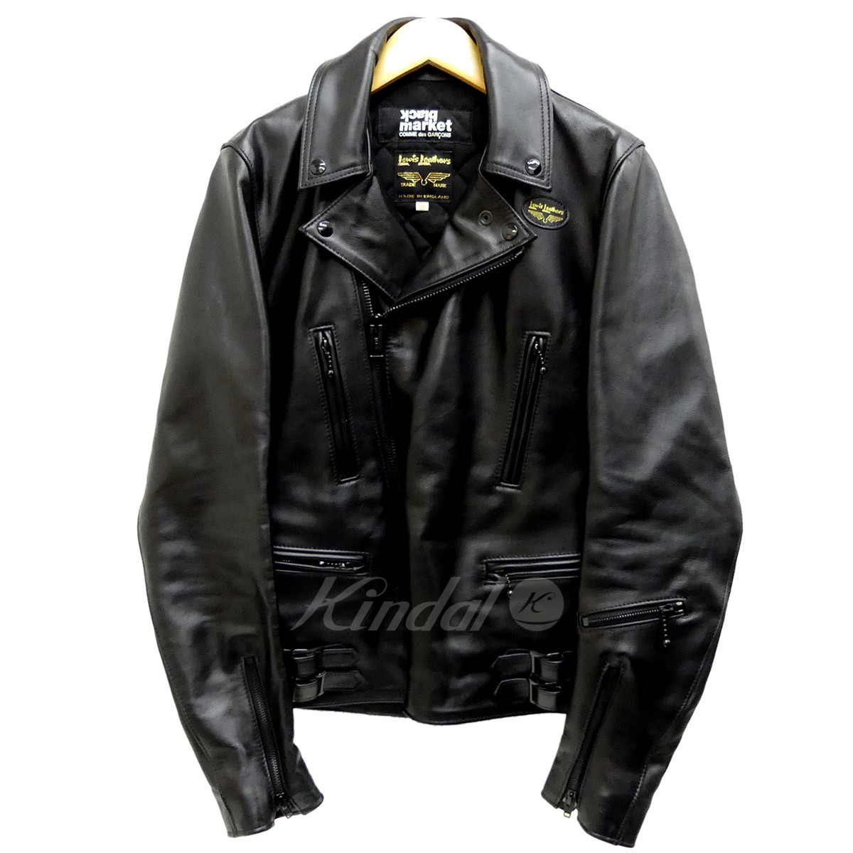 【中古】COMME des GARCONS BLACKMARKET Lewis Leather Lightning Tight Fit レザージャケット 【送料無料】 【134290】 【KIND1641】