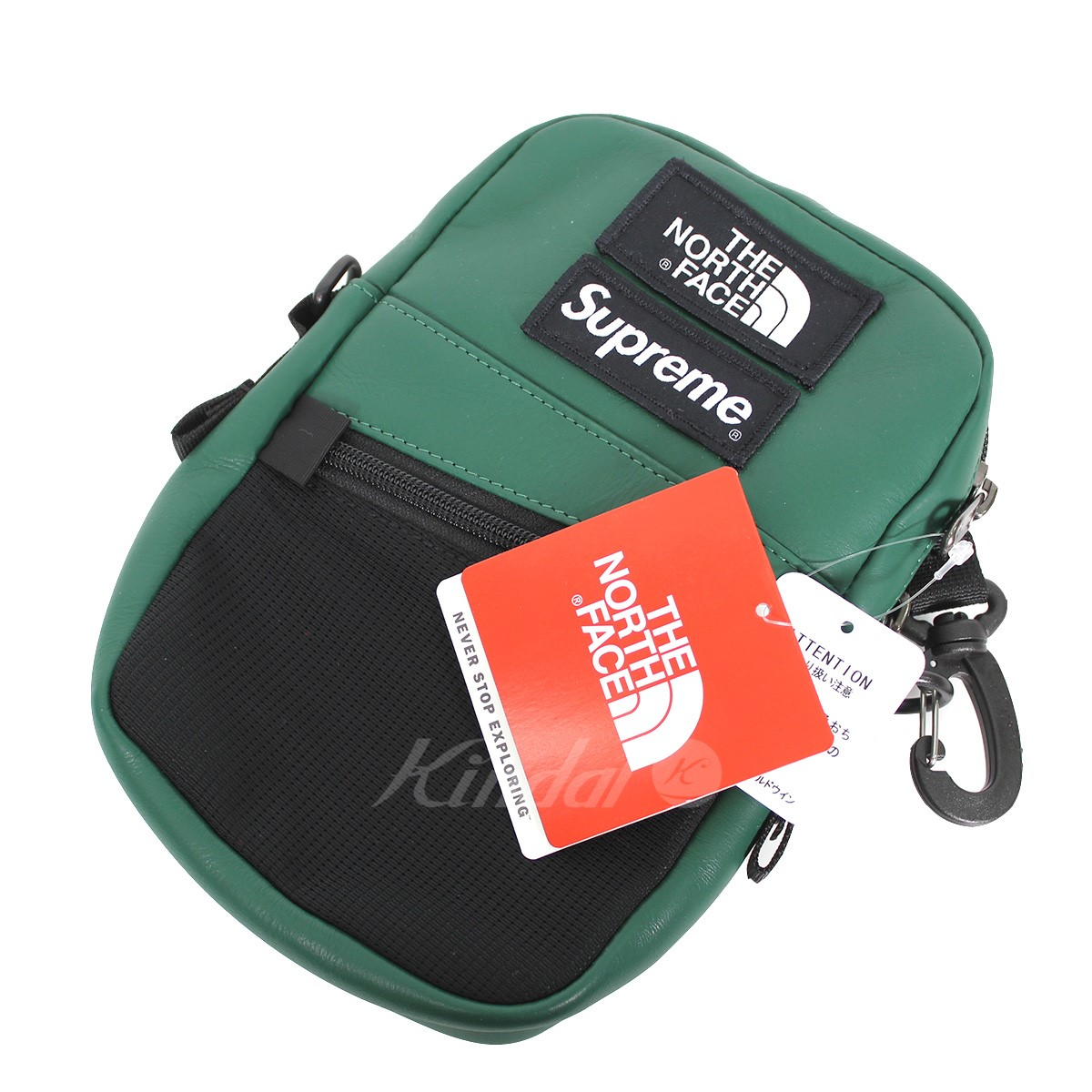 【中古】Supreme × THE NORTH FACE 18AW Leather Shoulder Bag ロゴレザーショルダーバッグ 【送料無料】 【011036】 【KIND1551】