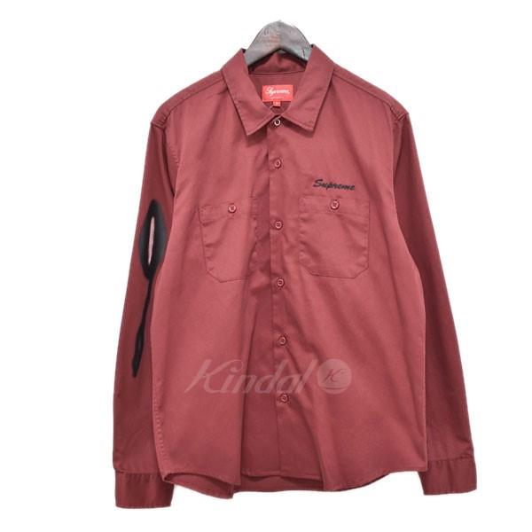 【中古】SUPREME 18AW Rose L/S Work Shirt 【送料無料】 【205965】 【KIND1641】