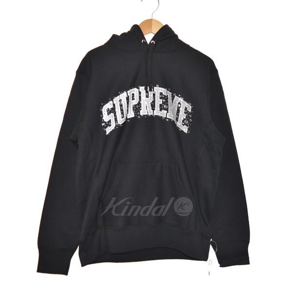 【中古】SUPREME 18AW Water Arc Hooded Sweatshirt プルオーバーパーカー 【送料無料】 【148375】 【KIND1551】
