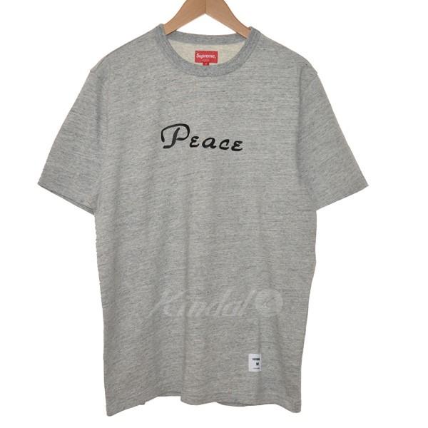 【中古】SUPREME 18AW Peace S/S TOP プリントTシャツ 【送料無料】 【148382】 【KIND1551】