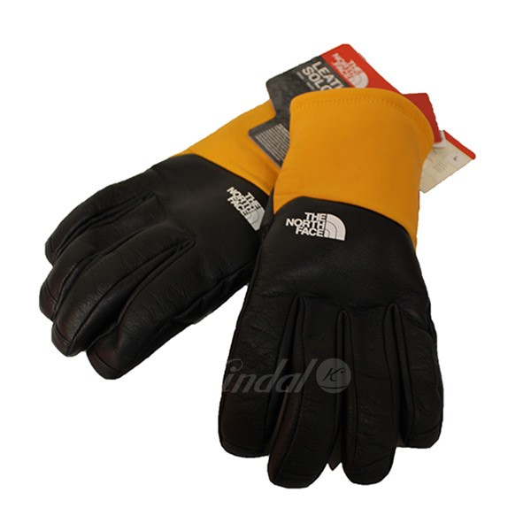 【中古】SUPREME×THE NORTH FACE 2017AW LEATHER GLOVES レザーグローブ NN61750I 【送料無料】 【009856】 【KIND1551】