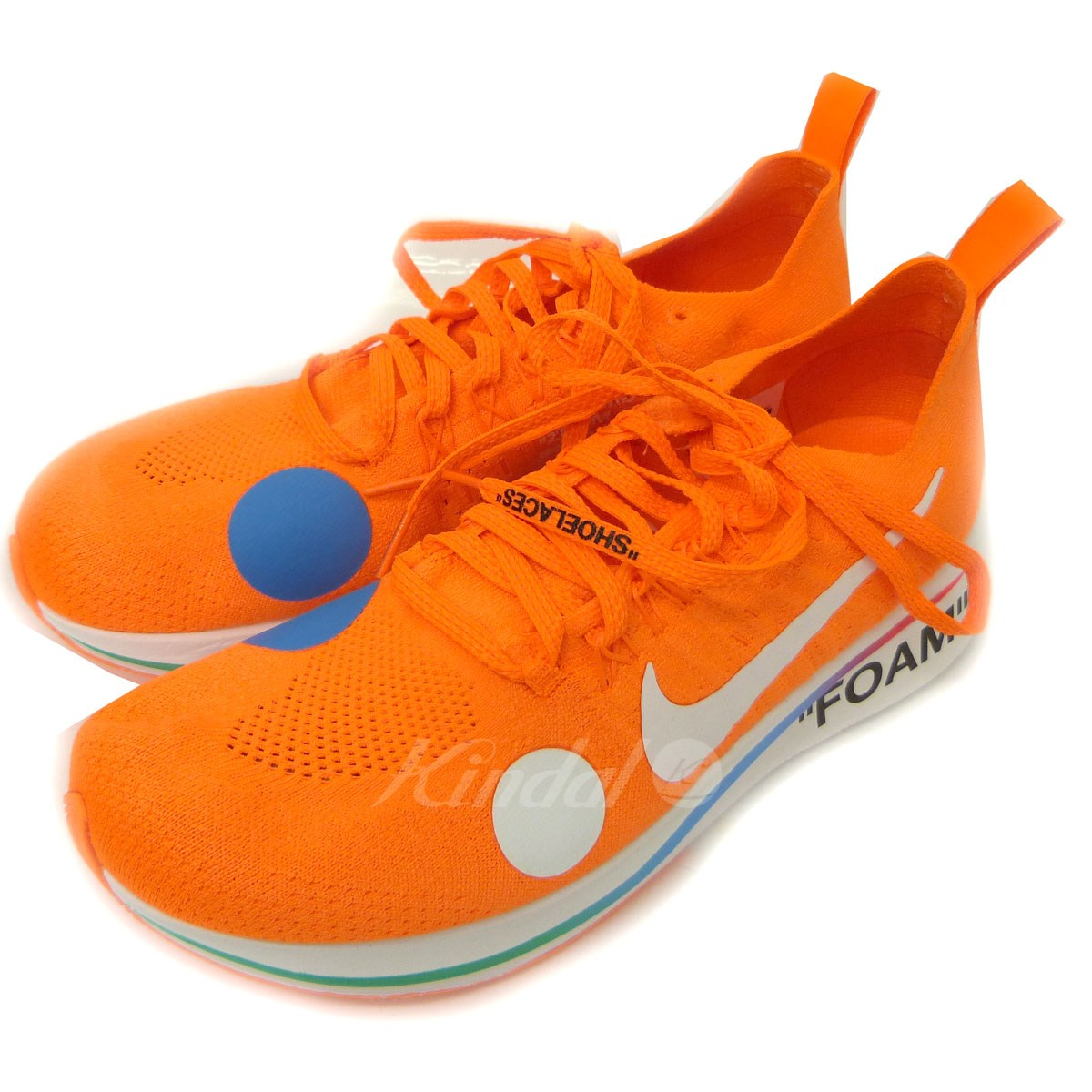 【中古】OFF WHITExNIKE 「ZOOM FLY MERCURIAL FK /OW」スニーカー 【送料無料】 【087849】 【KIND1551】