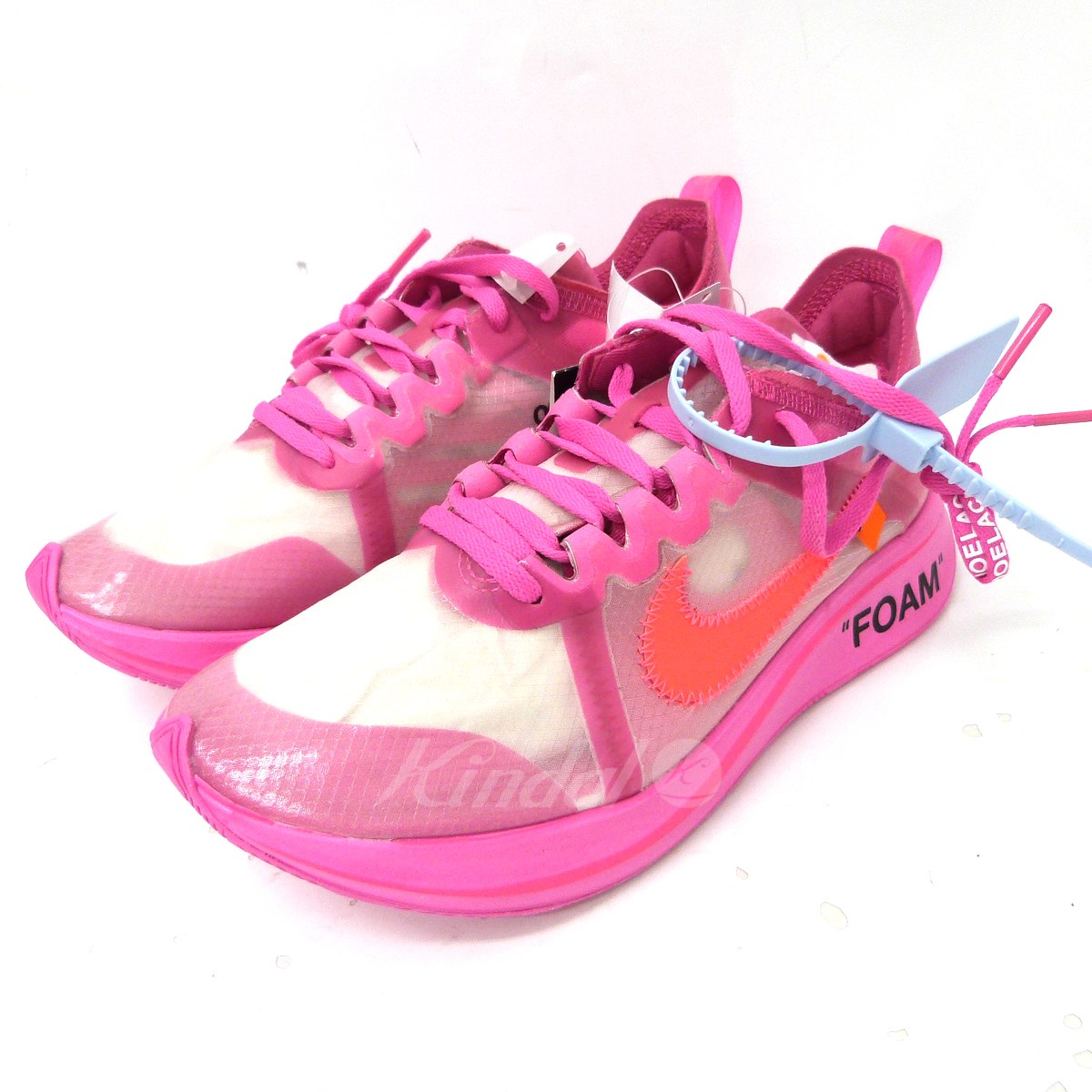 Kindal Off Whitexnike The Is 10 Zoom Fly Sneakers Pink Size 25cm