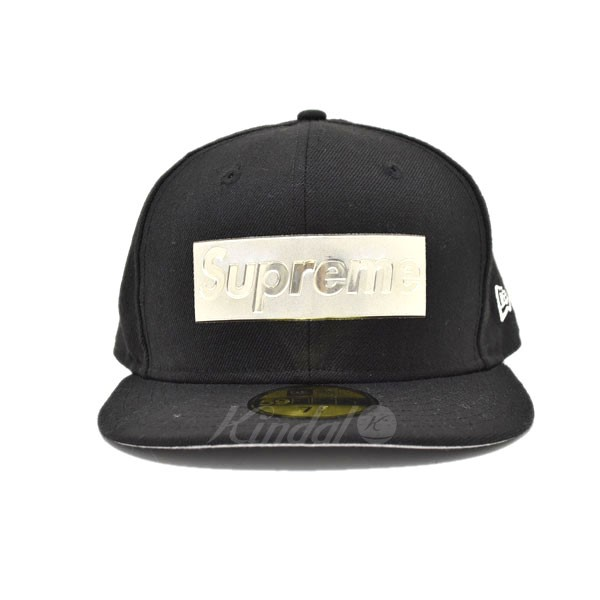 【中古】Supreme x New Era 16SS Metallic Box Logo CAP 【送料無料】 【184864】 【KIND1551】