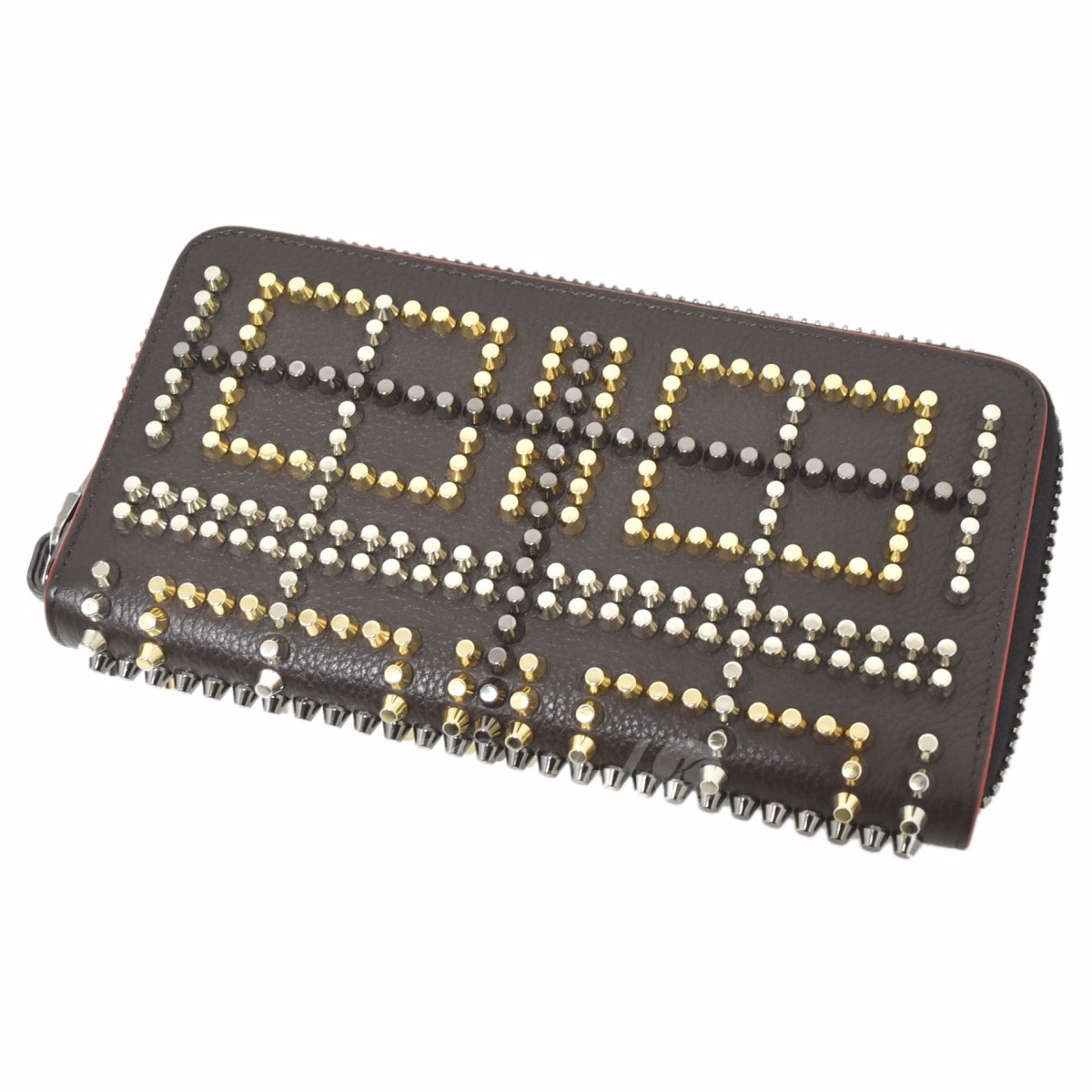 【中古】CHRISTIAN LOUBOUTIN M PANETTONE WALLET CALF EMPIRE SPIKES 【送料無料】 【001523】 【KIND1551】