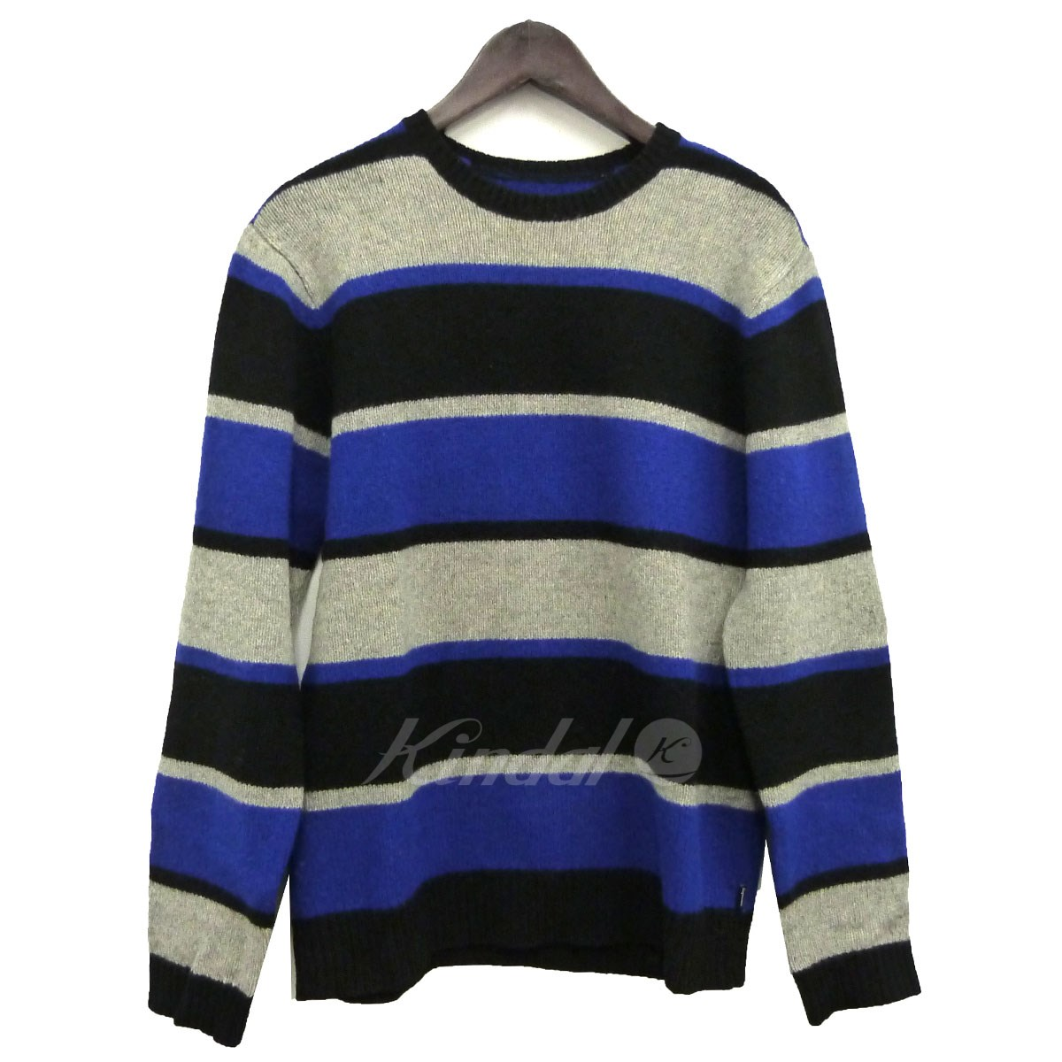 【中古】SUPREME 08AW「Three Color Striped Sweater」ボーダーニット 【送料無料】 【090337】 【KIND1551】
