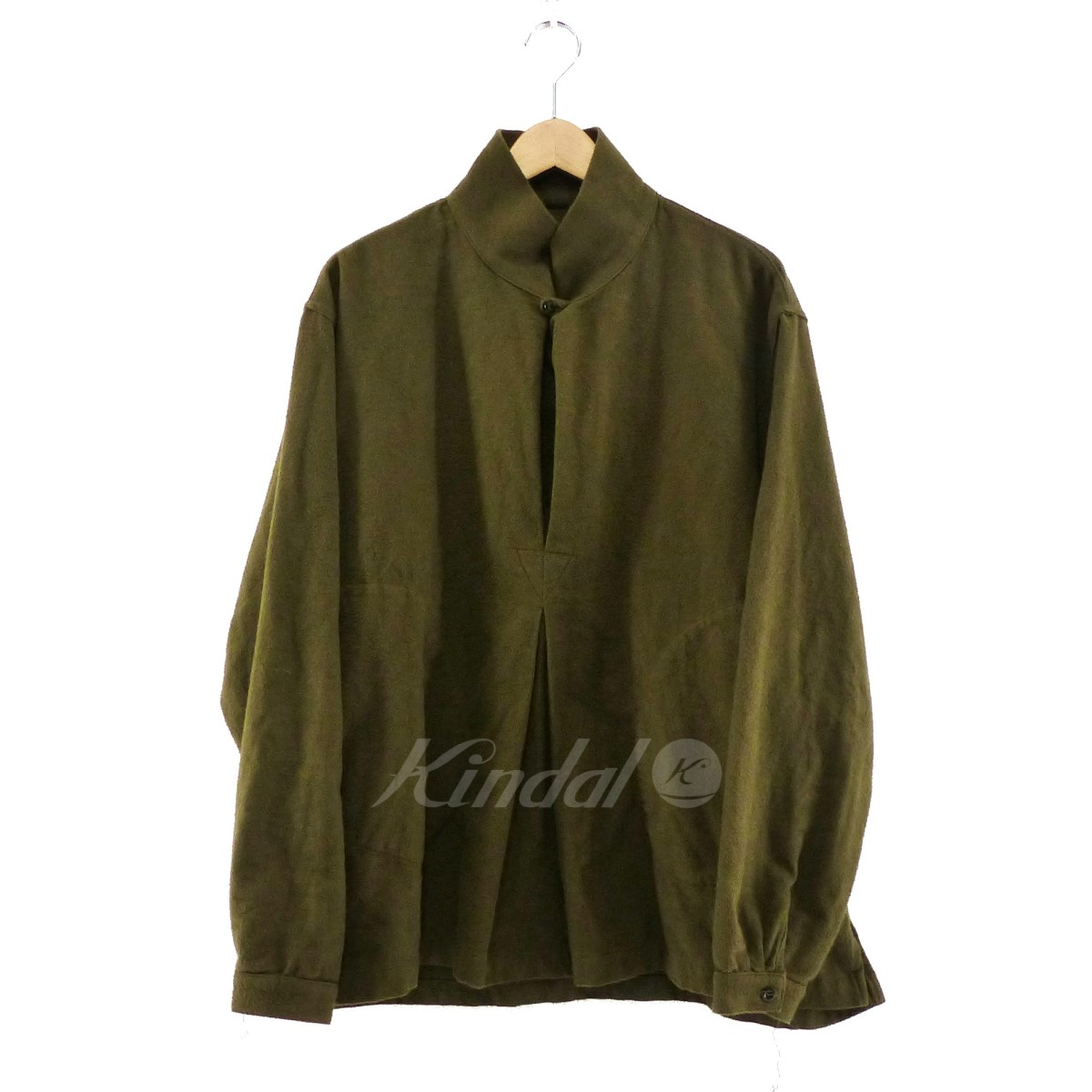 【中古】monitaly Invert Pullover Cotton Flannel Shirt カーキ サイズ:M 【送料無料】 【030119】(モニタリー)