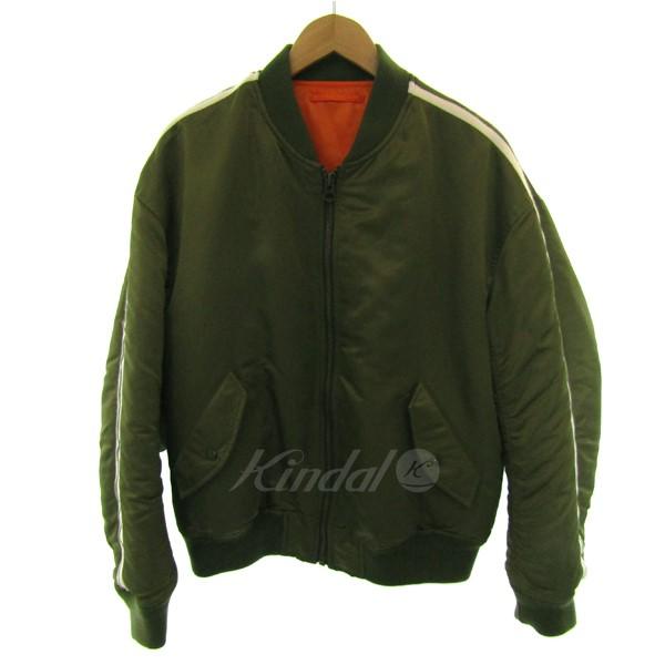 【中古】MR.GENTLE MAN ラインMA-1ジャケット カーキ サイズ:XS 【送料無料】 【030119】(ミスタージェントルマン)