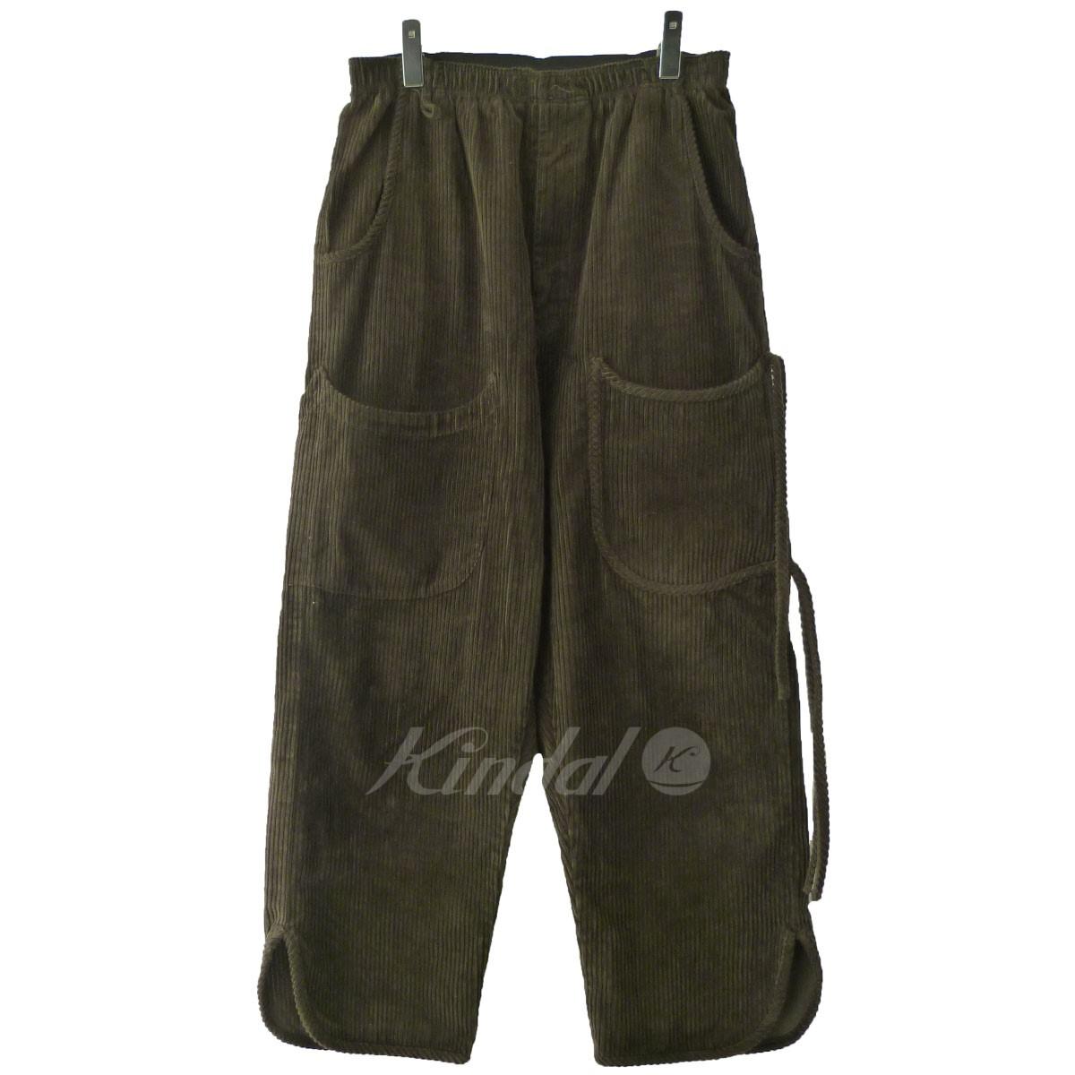【中古】SYU. '18AW 「Relax corduroy pants」リラックスコーデュロイパンツ ブラウン サイズ:1 【送料無料】 【040119】(シュウ)