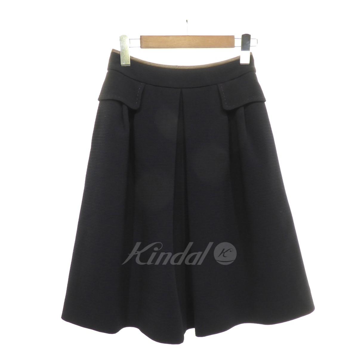 【中古】FOXEY 【2016】 Skirt Jasmine スカート ミッドナイトブルー サイズ:38 【送料無料】 【040119】(フォクシー)