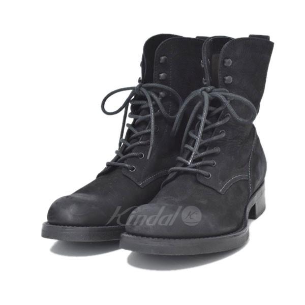 【中古】MR.OLIVE WATER PROOF NUBUCK LEATHER LACE UP LOGGER BOOTSブーツ ブラック サイズ:9 1/2 【送料無料】 【040119】(ミスターオリーブ)