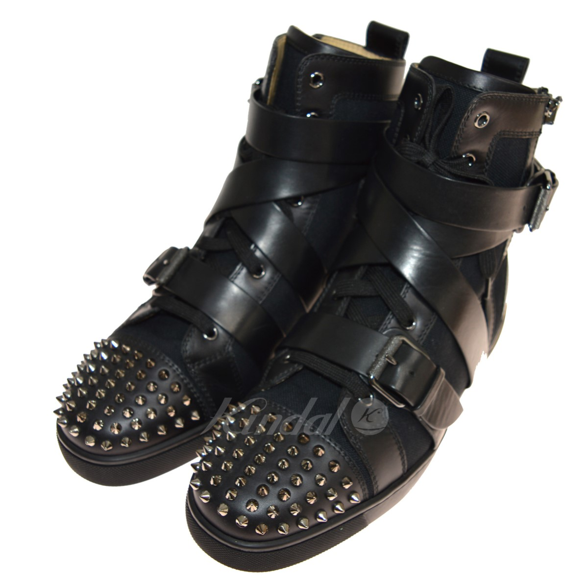 【中古】CHRISTIAN LOUBOUTIN Snap Shoot Spikes ハイカットスニーカー 【送料無料】 【148818】 【KIND1641】