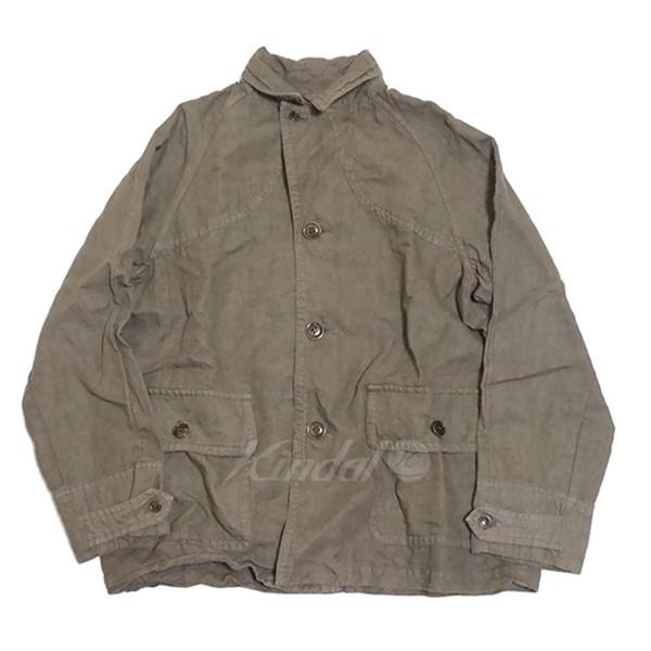 【中古】nest Robe 2018AW リネン高密度ツイルハンタージャケット ジャケット カーキ サイズ:Free 【送料無料】 【090119】(ネストローブ)