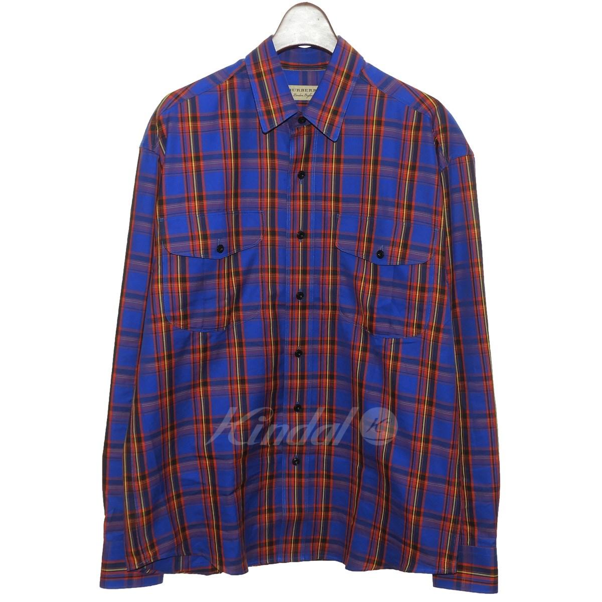 【中古】BURBERRY チェックシャツ 【送料無料】 【173079】 【KIND1641】