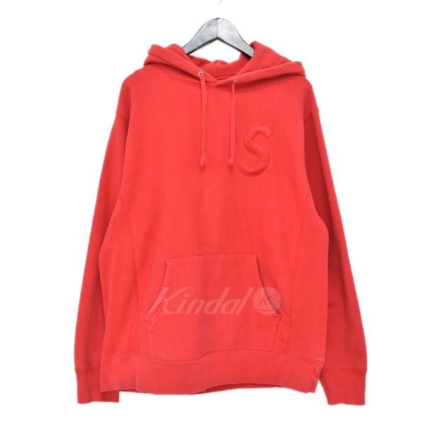 3379e3c3c534 SUPREME 17AW tonal s logo Hooded Sweatshirt pullover parka red size  L  (シュプリーム)