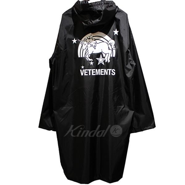【中古】VETEMENTS 2018AW Unicorn Rain Coat ユニコーン レインコート 【送料無料】 【004936】 【KIND1641】