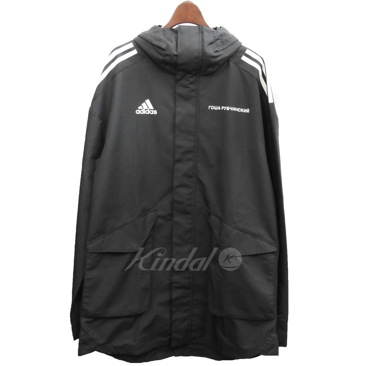 【中古】Gosha Rubchinskiy×adidas2017AW 「Signature Hardshell Jacket」ハードシェルジャケット ブラック サイズ:JP O【2月17日見直し】