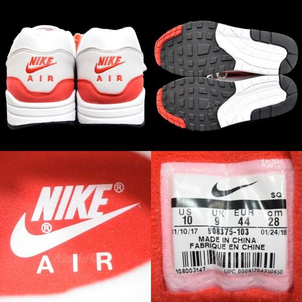 2c65b2bbba3add NIKE AIR MAX 1 ANNIVERSARY Air Max 1 anniversary 908375 103 red X white  size  US 10 (Nike)