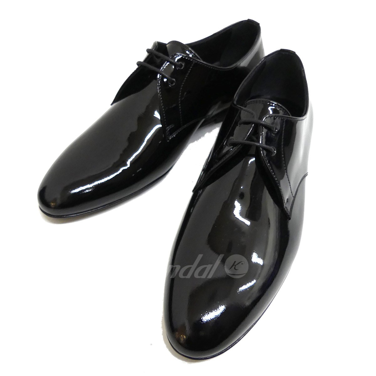 【中古】SAINT LAURENT PARIS パテントレザーシューズ VERNIS HEAVY LACE UP 【送料無料】 【187647】 【KIND1641】