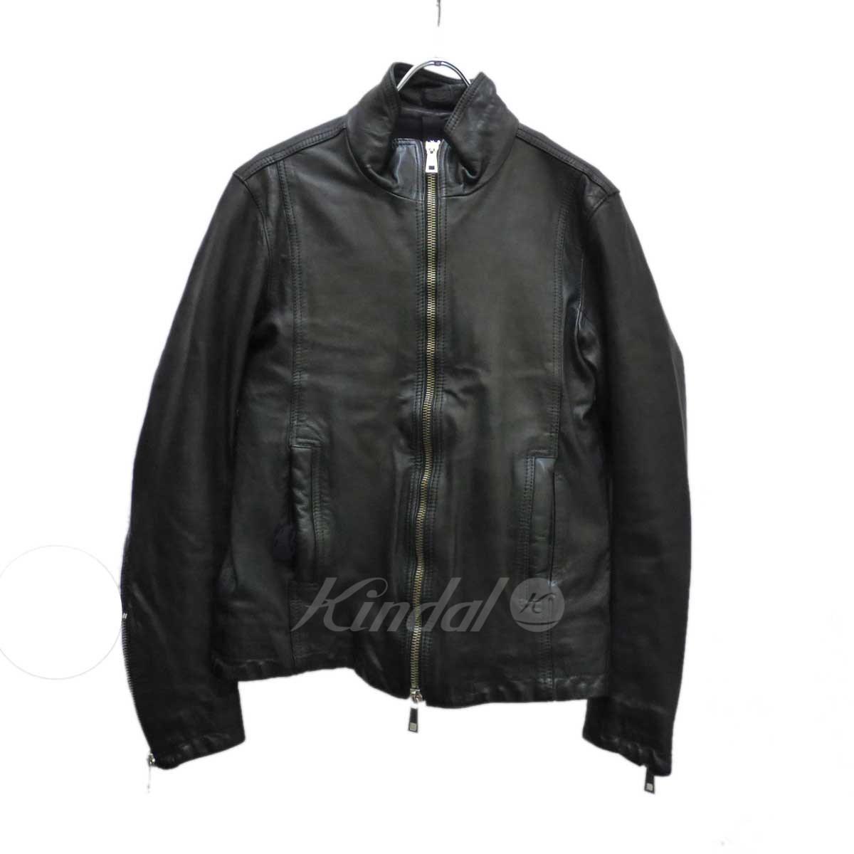 【中古】MUSHER シングルライダースジャケット ブラック サイズ:2 【190119】(マーシャ)