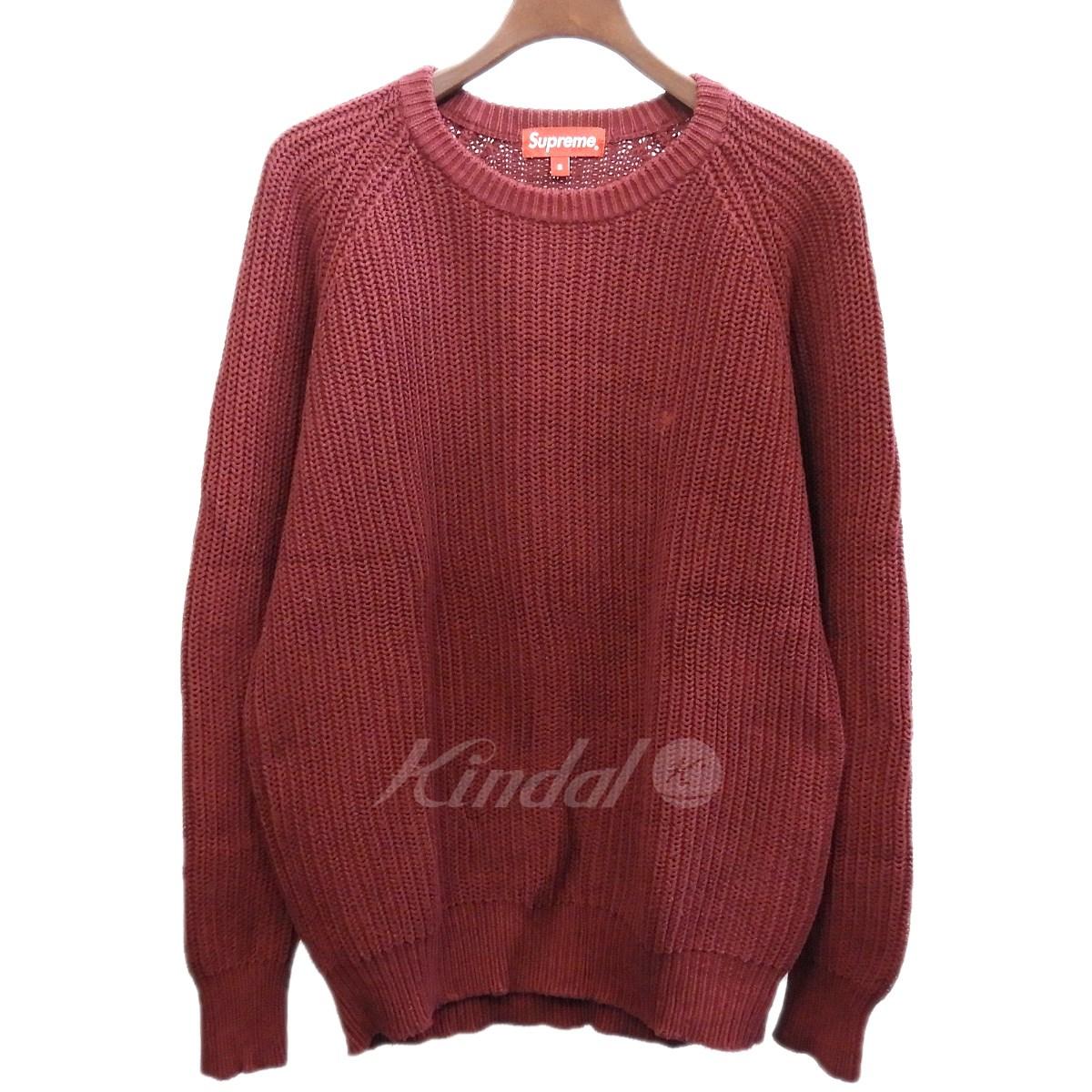【中古】SUPREME 14AW「Rib Crewneck Seweater」リブクルーネックニットセーター 【送料無料】 【175073】 【KIND1641】