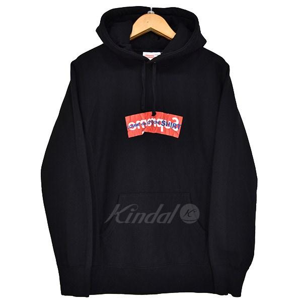 【中古】Supreme×COMME des GARCONS SHIRT Box Logo Hooded Sweatshirt ボックスロゴプルオーバーパーカー 2017SS 【送料無料】 【033860】 【KIND1641】
